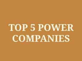 Top 5 power companies