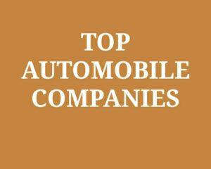 Top Automobile Companies