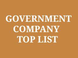 Government Company Full List