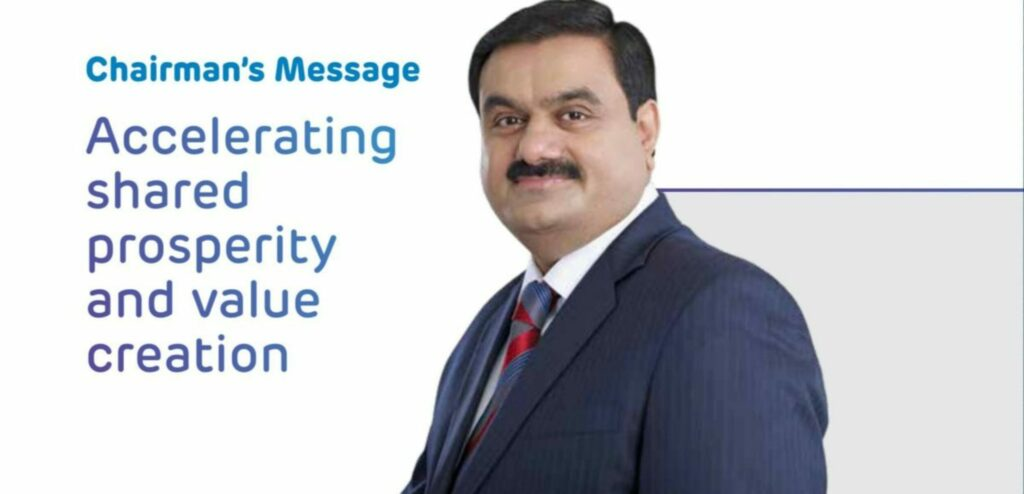 Chairman and Managing Director Mr. Gautam Adani