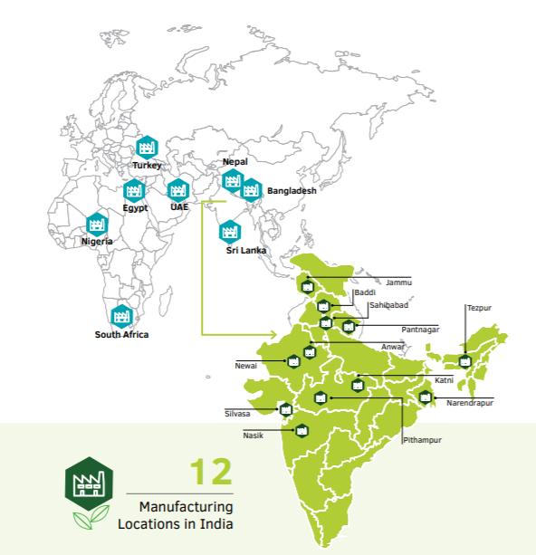Dabur India Manufacturing Locations