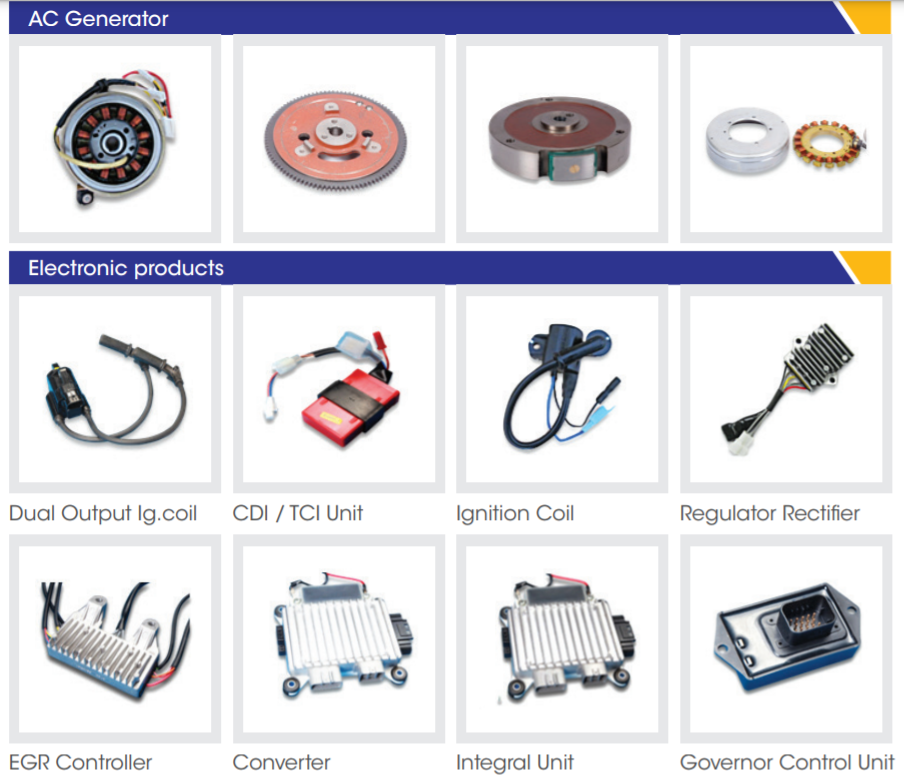 Products of India Nippon Electricals Ltd